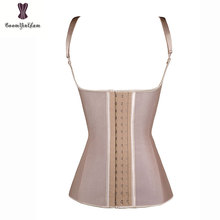 good elastic adjustable straps 100% latex rubber waist cincher front 3 hooks underbust corset vest Waist Slim waist trainer 887