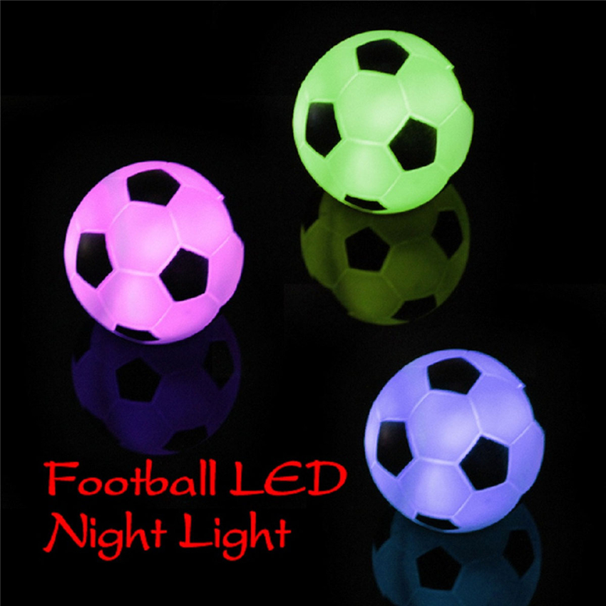 Night Lovely Sleeping Lamp Baby Room Football Cartoon Light Kids Children Bed Lamp Decor Gifts On Off Switch With Dry Battery