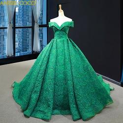 Off Shoulder Sexy Groen Zwangerschap Moederschap Avondjurken 2019 Fashion Formele Zwangere Avondjurken Lange Elegante Prom Dress