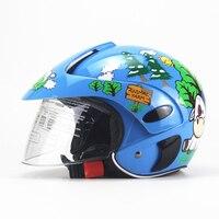 Motorcycle Helmet Cartoon Children Helmet For Motorcycle Half Face Kids Motorbike Helmet Capacete Moto for Boys And Girls