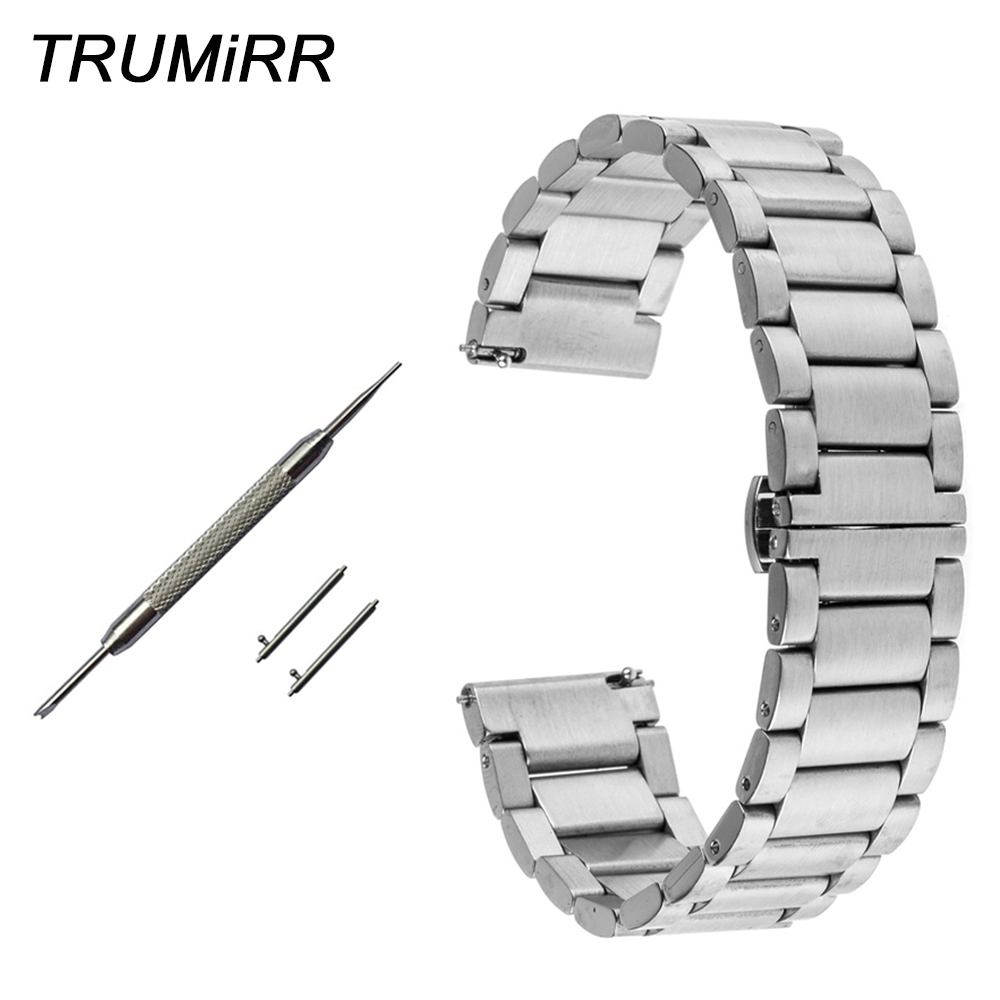 Quick Release Stainless Steel Watch Band For Montblanc Men Women Star Timewalker Butterfly Buckle Strap Bracelet 18mm 20mm 22mm Nourishing The Kidneys Relieving Rheumatism Watchbands