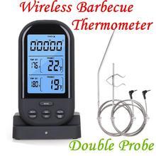 Беспроводной дистанционный термометр с двойным зондом и ЖК-дисплеем, цифровой термометр для кухни, барбекю, гриля, мяса, кухни, приготовления пищи