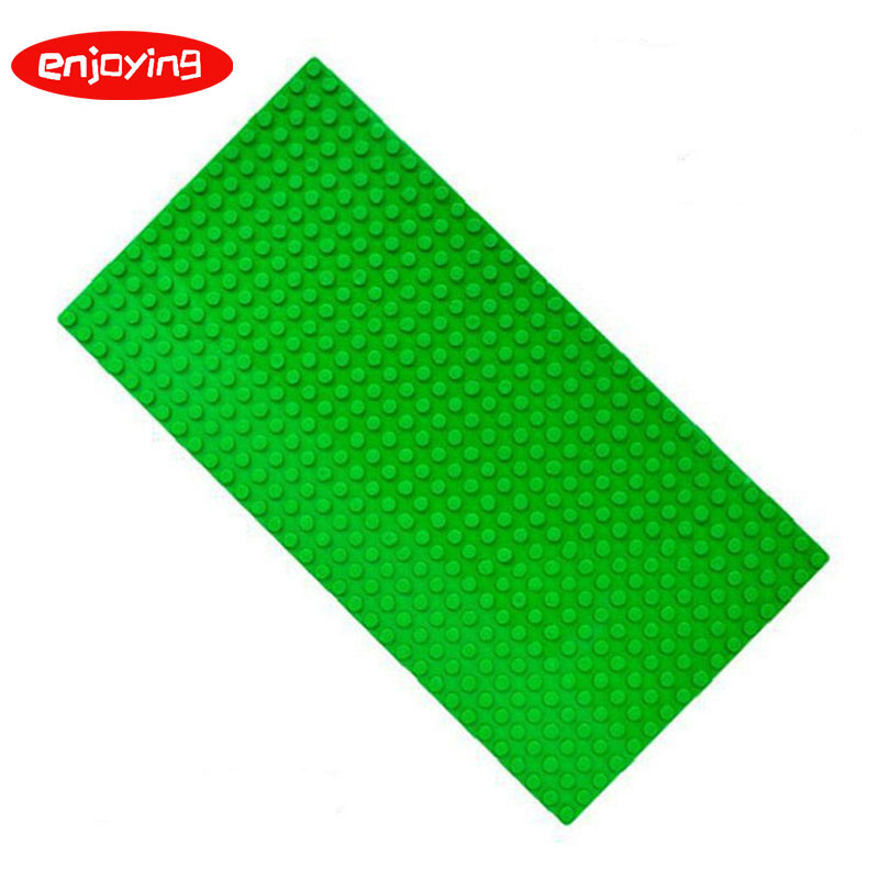 16*32 Dots Small Particles Base Plate for Small Bricks <font><b>Baseplate</b></font> Board Compatible DUPLO Figures DIY Building Blocks Fittings image