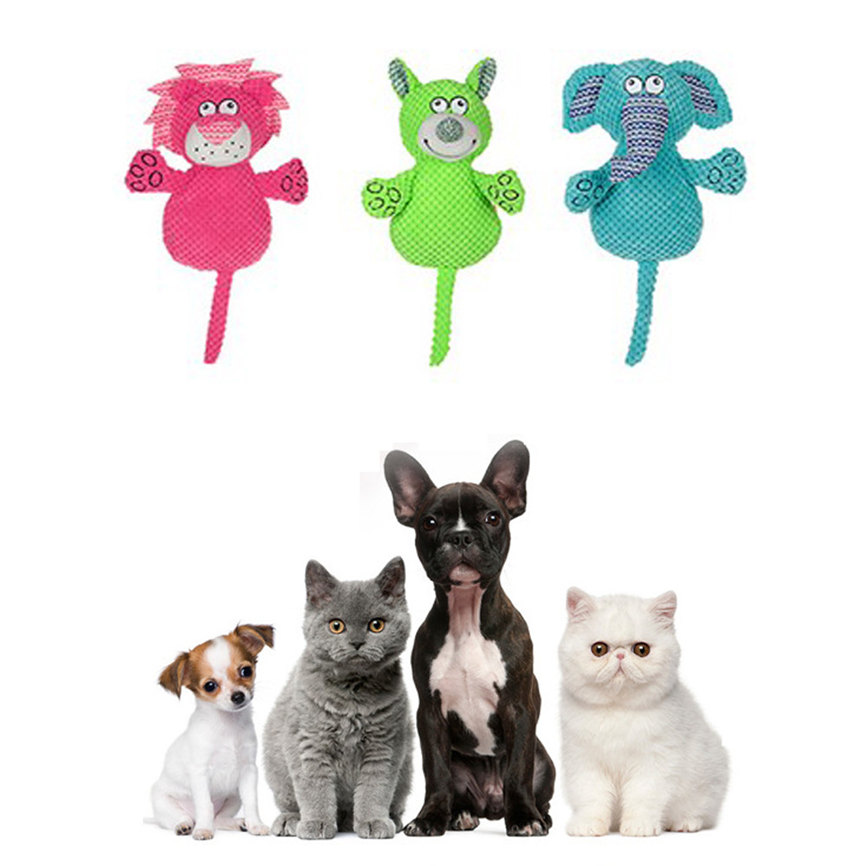 Funny Animal Shape Pet Puppy Dog Toys Soft Plush Sound Squeaky Chew Toy Gifts Dropshipping #1101