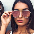 Gold Aviator Sunglasses Women Men Luxury Brand Round Pink Mirror Women Sport Sunglasses Cat Eye UV400 Sun Glasses Lunette