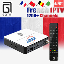 GT2017 GOTiT French 4K UHD IPTV Box Android DVB-S2 Satellite Combo Smart TV Box with Arabic NEOPLUS Pro QHDTV Belgium LiveTV Box(China)