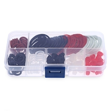Gustala Professional 180 Pcs Rubber Tattoo Accessories Kit O-rings Rubber Bands Pin Cushions Supplies With Small Storage Box