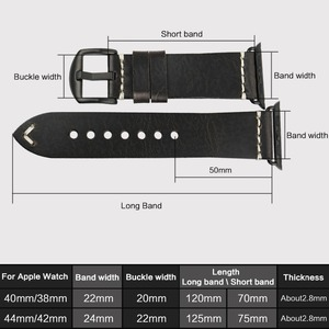 Image 3 - MAIKES New Arrival Genuine Leather iWatch 44mm 40mm Watch Band For Apple Watch Strap 42mm 38mm Series 4/3/2/1 Bracelet Watchband