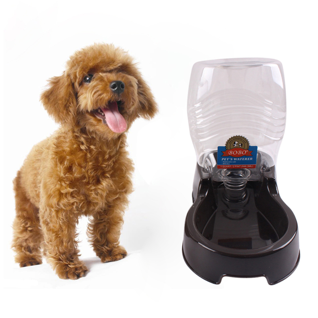 Food Dish Bowl Feeder Pet Dog Cat Automatic Water Dispenser Grey/Black Drinking Water Puppy Food Feed Dish Bowl Pet Water