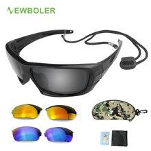 NEWBOLER Polarized Glasses Fishing Eyewear Replaceable Lens Men Sport Glassses Driving Cycling UV400
