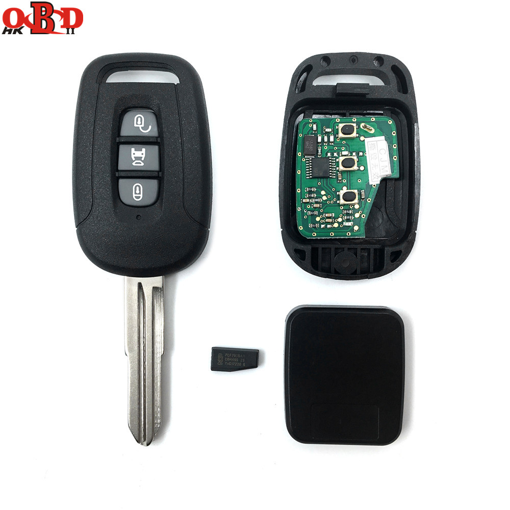 HKOBDII For Chevrolet Captiva 3 Buttons Remote Key 433MHZ With 7936 Chip in Car Key from Automobiles Motorcycles