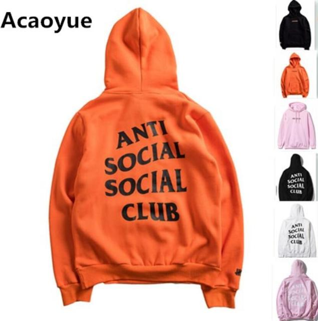 ANTI SOCIAL SOCIAL CLUB Hoodies Men Women 1:1 High Quality Hoodie Sweatshirt ASSC Pullover Hip Hop Kanye West Undefeated Jacket