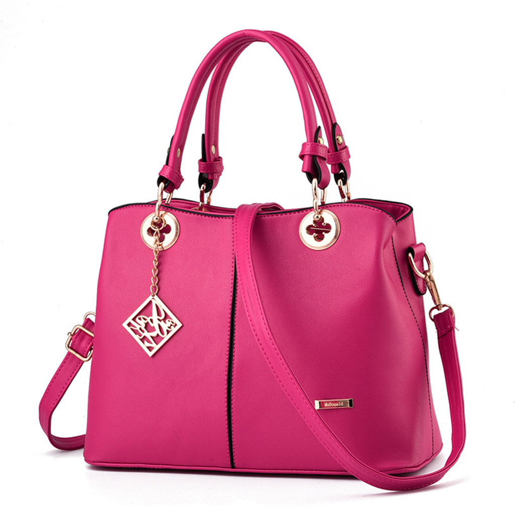 High Quality Women PU Leather Handbag Tote Crossbody Shoulder Bag Purse Satchel Top Handle Bags