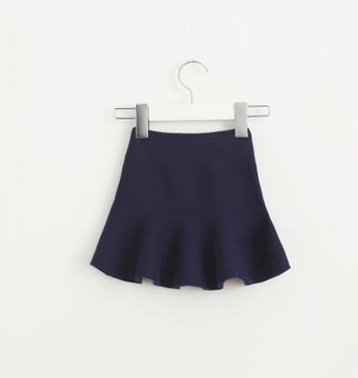 Очаровательная юбка для маленьких девочек; детские юбки-пачки с оборками; детская юбочка; уютные вязаные вечерние юбки; одежда для свадьбы; Рождественский подарок - Цвет: ink