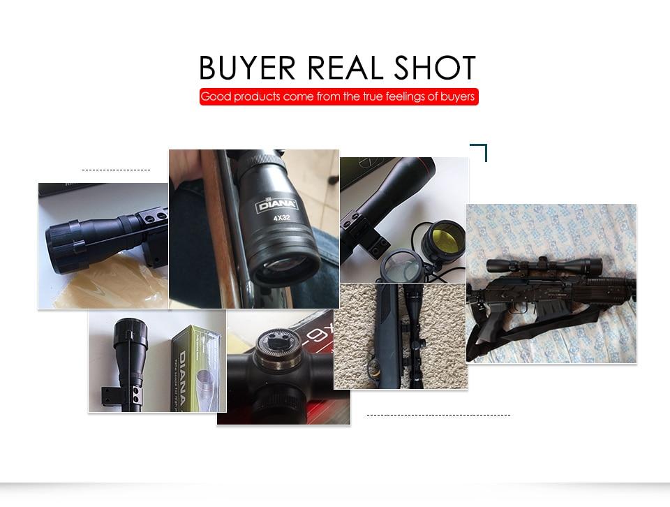 4x32 riflescope tático um tubo de vidro