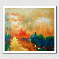 Wholesale And Retail Canvas Prints From Modern Impression Landscape Painting Show As Abstract Art For Room