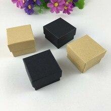 50 개/몫 패션 고품질 리본 보석 상자, 종이 반지 상자, 귀걸이/펜 던 트 상자 4*4*3 디스플레이 포장 선물 상자