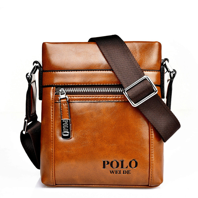 High Quality Leather Shoulder leisure men s bag business messenger portable  casual briefcase POLO bag sacoche homme 98d759cc88a79