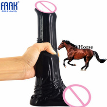 купить FAAK Huge Dildo Super Big Animal Penis Dildo Anal Plug Woman Vagina Massage Masturbator Adult Sex Toys Horse Dildos for Women дешево