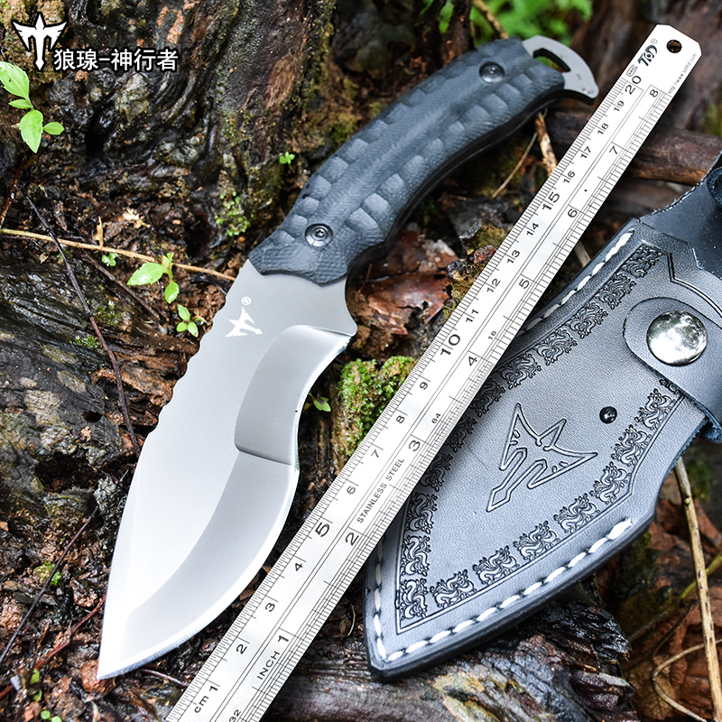 voltron Self defense tactics high hardness straight knife outdoor survival saber wilderness portable cutter hunting knife
