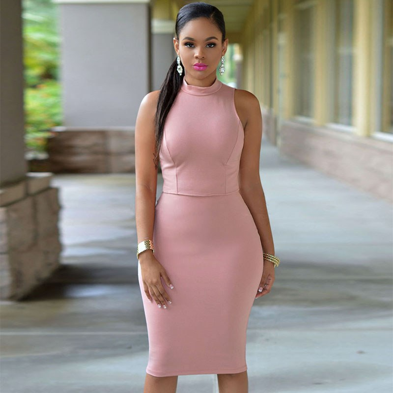 14f4da846a Spring Summer For Ladies Soild Hollow Out Party Night Club Dress Black  White Pink Casual Vestido Mujer Femme Robe Cocktail Party-in Dresses from  Women s ...