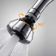 1 PC 360 Degree Water Bubbler Swivel Head Saving Tap Faucet Aerator Connector Diffuser Nozzle Filter Mesh Adapter