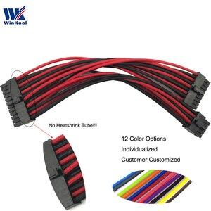 WinKool Modular PSU Individually ATX 10+18 Pin to 24Pin Type 4 Sleeved Cable For Corsair Modular PSU RMi RMx SF Series(China)