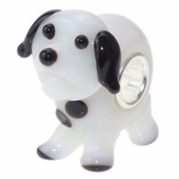 925 Sterling Silver With Dog Glass Bead Charms Compatible Fit Troll European Brand Beads For Jewelry