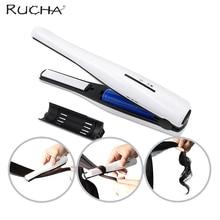 Best Buy RUCHA Mini Ceramic Hair Straightener Iron Curler Li-ion Rechargeable Battery Portable Travel Hair Straightening Irons
