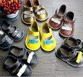 De alta calidad de Cuero Genuino de la Vaca Del Bebé Lave Hasta Zapatos Mocasines Niños Niñas Soft Primeros Caminante 100% Zapatos Hechos A Mano de 6 colores