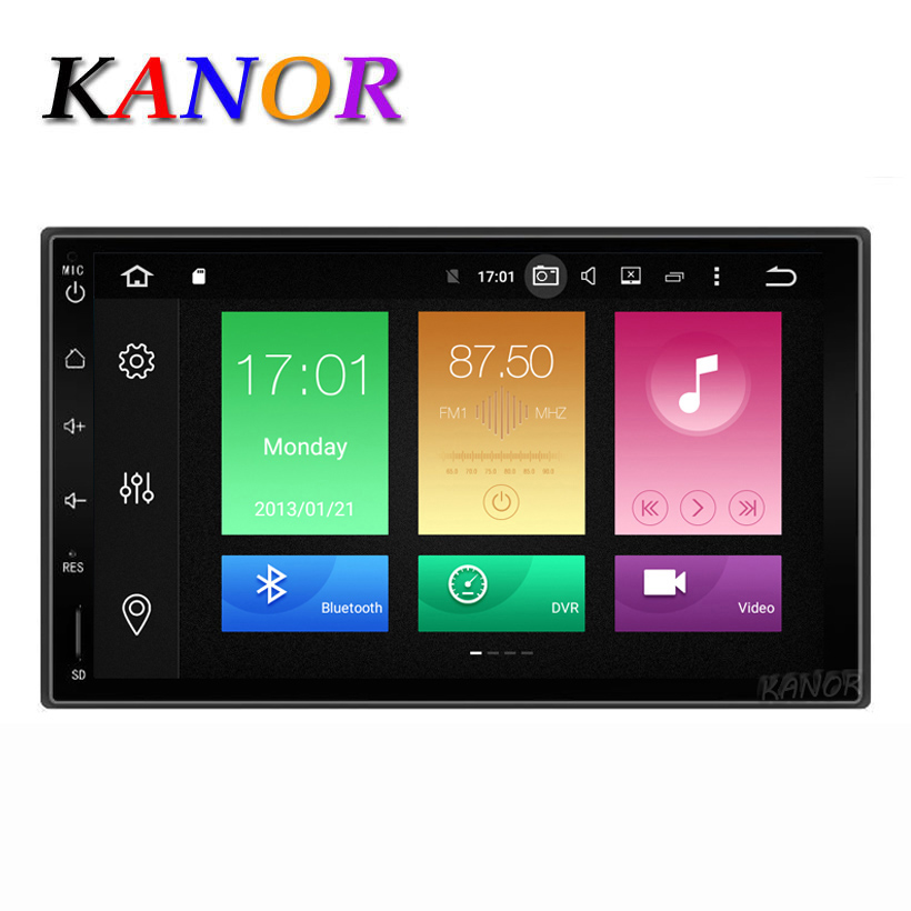 KANOR Octa Core RAM 4G ROM 32G 2 Din Android 8.0 Car Audio Stereo-radio met GPS WiFi Universele GPS-navigatie Video Head Unit