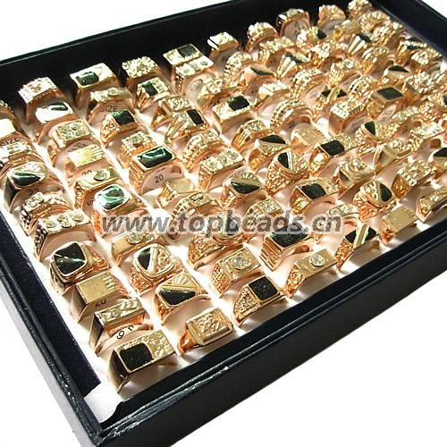 Copper Gold Plated New Styles mixed Finger Ring Men mixed designs