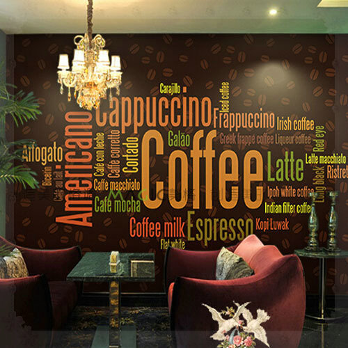Large Photo Wall Murals Wall Paper Personality Coffee Shop Living