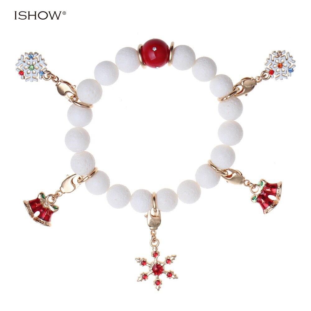 2016 nuevas pulseras para mujer Navidad regalos Piedra Natural corallite  cuentas joyería de copo de nieve hecho a mano Amuletos pulseiras pulseras dc68d463df75