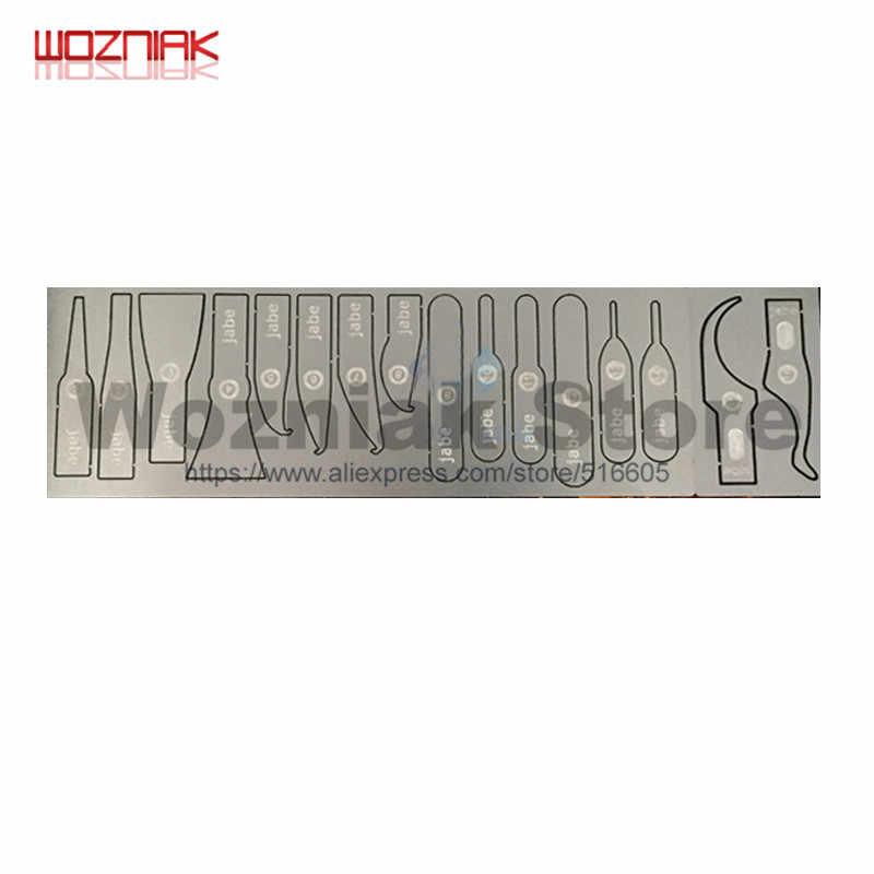 Wozniak Original toughness IC Chip BGA placa base Disco Duro placa de circuito PCB cuchillo de reparación hoja delgada curvada para iphone samsung