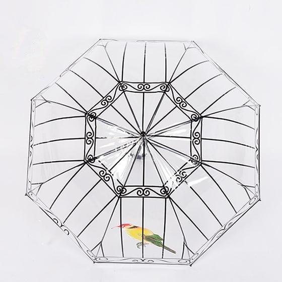 Transparenter Regenschirm Kreativer Vogelkäfig-Sonnenschirm - Haushaltswaren - Foto 5