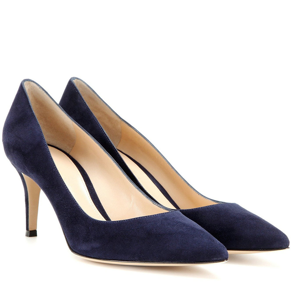 AIWEIYi Women Shoes Med Heels 6.5CM Black Grey Pumps Kitten Heels Shoes For Women  Ladies Wedding Party Shoes Platform Heels-in Women s Pumps from Shoes on ... 376d4a454b38