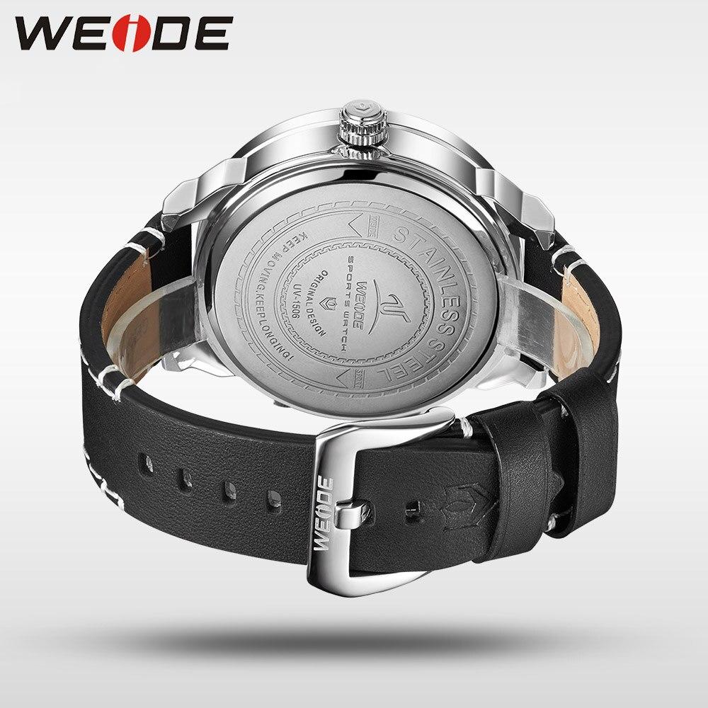 Weide klok luxe quartz horloges Mannen wit sport elektronisch horloge - Herenhorloges - Foto 6