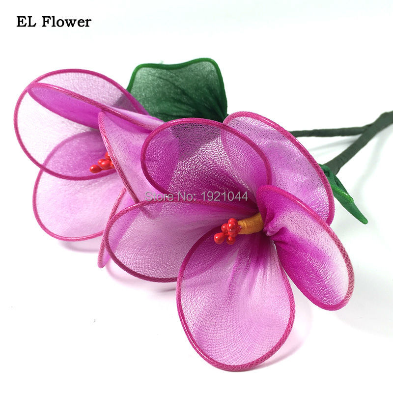 2017 Newest Bright Light EL Wire Flower Powered By DC-5V Neon glow light Colorful Flower For Festival Party decoration