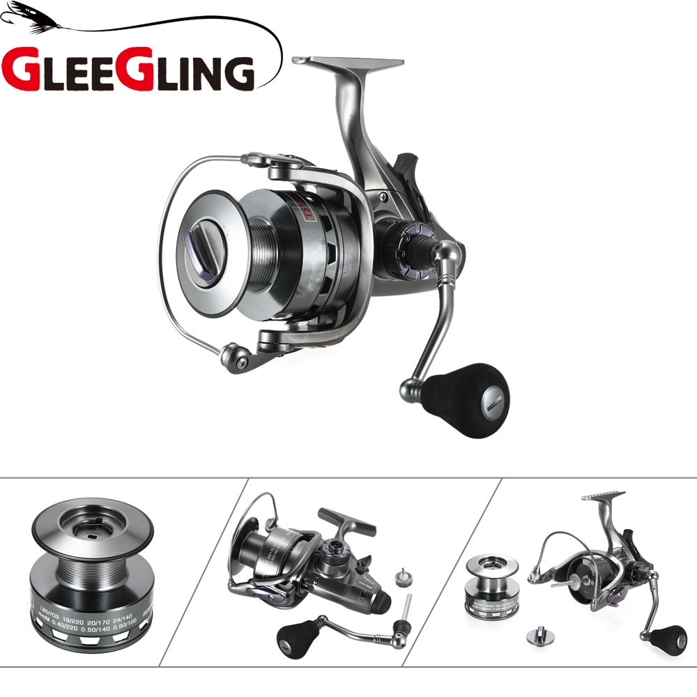 GLEEGLING 1 Fishing Reel+ 2 Wire Cup + Double Force+ 2 Speed Gear Ratio 6.3:1/4.3:1 Spinning Reel 11BB Drag Front and Rear Drag цена
