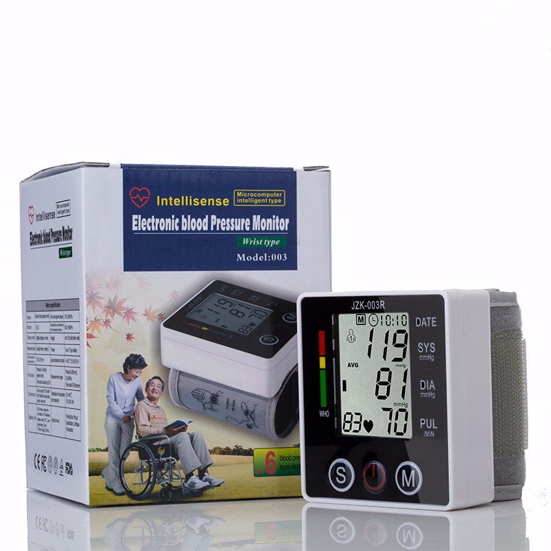 Portable Digital Blood Pressure Monitor Wrist Sphygmomanometer Blood Pressure Tonometer Automatic Helth Care Pressure Device (9)