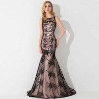 Instock Black Mermaid Prom Dresses 2015 Charming Sleeveless Appliques Long Evening Party Dresses Vestido De Festa Longo