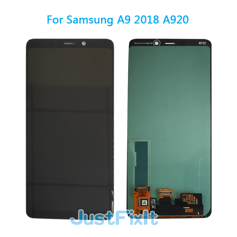Super amoled For SAMSUNG GALAXY A9 2018 A920 A920F LCD Display Touch Screen Digitizer Assembly Replacement