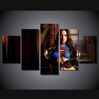5 panel grande HD stampato pittura Megan Fox Attrice stampa su tela arte moderna home decor wall art picture for living room F0359