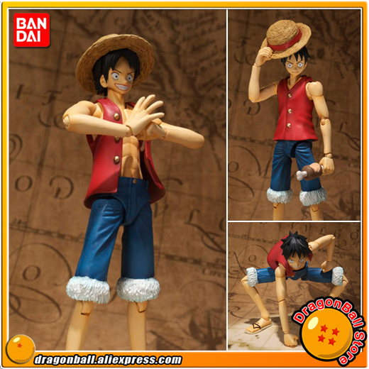 Japanese Anime One Piece Original BANDAI Tamashii Nations SHF / S.H.Figuarts Action Figure - Monkey D. Luffy anime captain america civil war original bandai tamashii nations shf s h figuarts action figure ant man