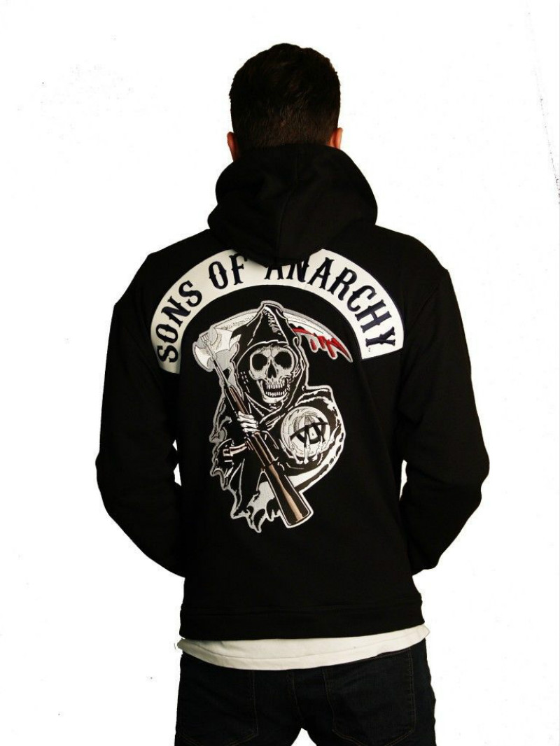 New Arrival Hot TV Sons of Anarchy Cosplay Costume Mens Autumn Winter Thick Sweatshirts Hoodie Zipper Hoodie Warm Coat Jacket