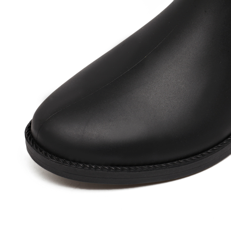 Mujer Botas A Pvc Prueba Rt365 Antideslizante Black Zapatos Lluvia Rouroliu Moda Las Pantorrilla De Hebilla Agua Mujeres Media zx7q8X