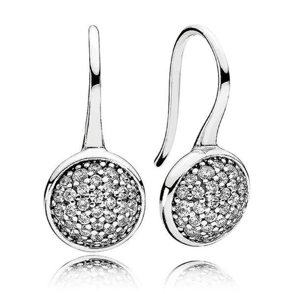 Hot Sale 925 Sterling Silver Dazzling Droplets Pandora Stud Earrings For Women Compatible With Original Fine Jewelry GiftHot Sale 925 Sterling Silver Dazzling Droplets Pandora Stud Earrings For Women Compatible With Original Fine Jewelry Gift