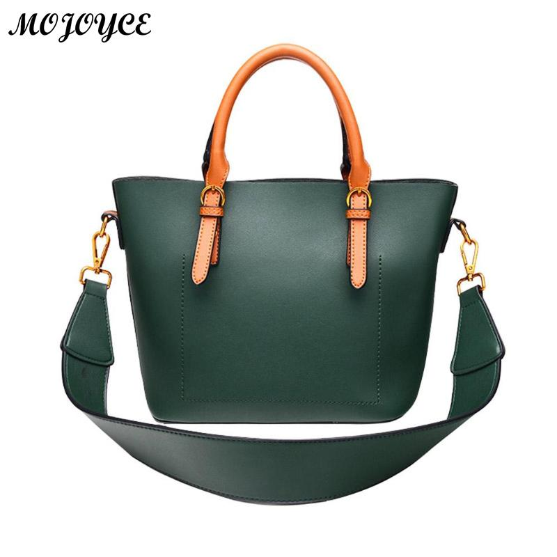 2 Pcs Fashion PU Leather Bags Ladies Handbag Women Shoulder Bag Female Messenger Bags Female Crossbody Tote Tablets large 2018 pair of chic rhinestoned water drop earrings for women