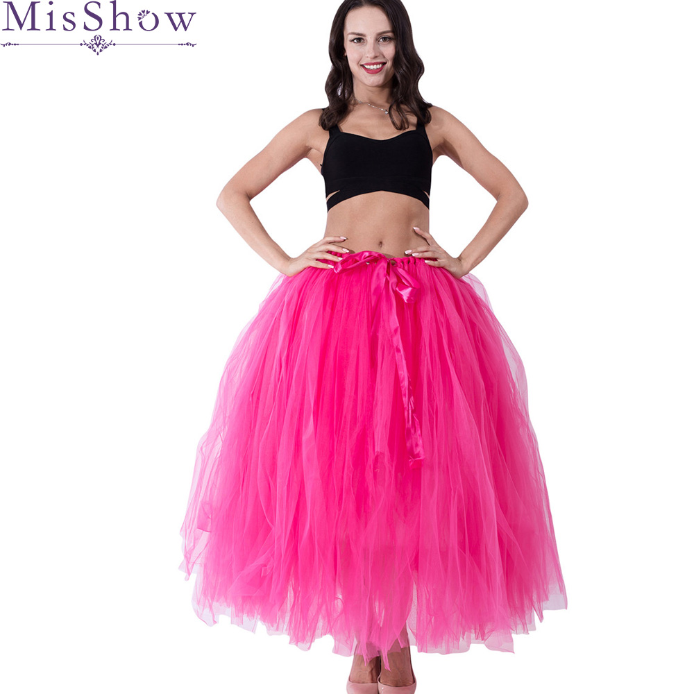 In stock Petticoat Tulle Wedding Ball Gown Rose Red 3 Layers Under Skirt Crinoline Long petticoats Skirt Bridal Accessories 2019
